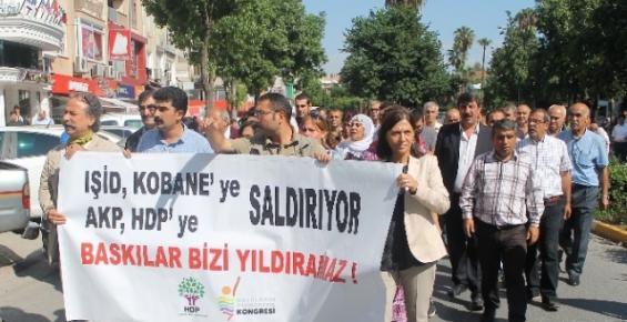HDP'den Mersin'de Kobani Eylemi
