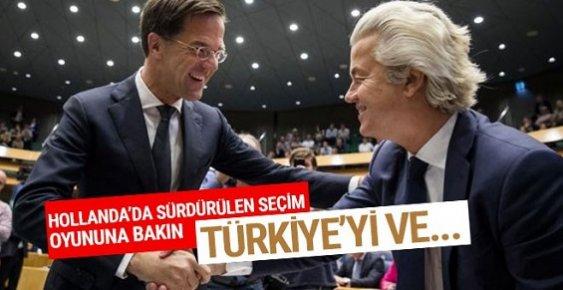 Hollanda'da Dönen Seçim Oyunununa Bakın! Türkiye...