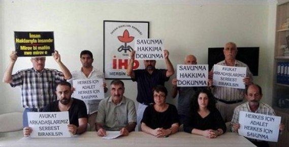 İnsan Hakları Derneği Mersin Şubesi, Mersin'de Avukatlara Yönelik Operasyonlara Tepki
