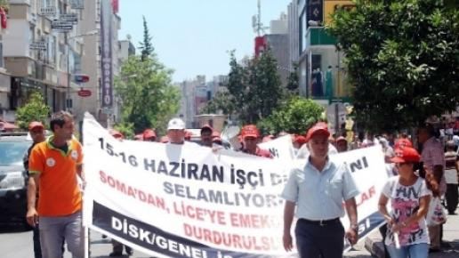 İşçilerden 'Taşerona Hayır' Yürüyüşü
