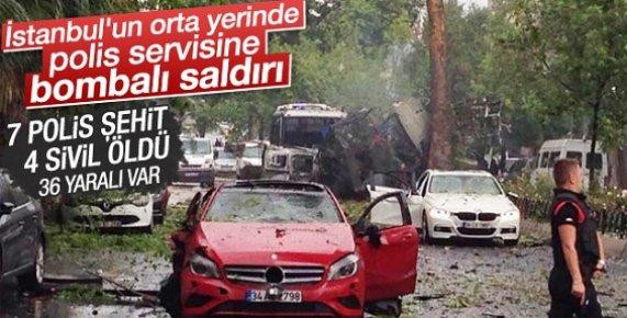 İstanbul'da Polise Bombalı Saldırı: 7 POLİS ŞEHİT OLDU
