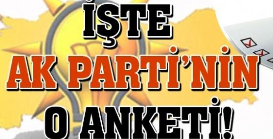 İşte AK Parti'nin Yaptırdığı Son Anket
