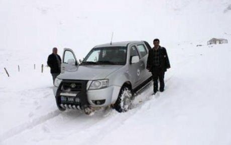Karboğazında Kar Kalınlığı 30 cm