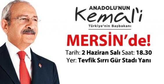 Kemal Kılıçdaroğlu Bugün Mersinliler İle Buluşacak
