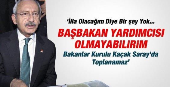 Kılıçdaroğlu: Başbakan Olursam Saray'a Çıkmam