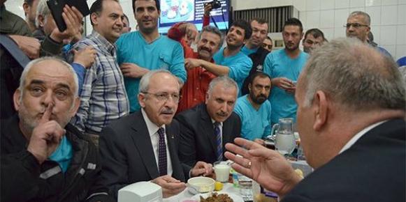 Kılıçdaroğlu, Mersin'de İşçilerle Yemek Yedi