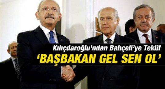 Kılıçdaroğlu'ndan Bahçeliye Başbakanlık Teklifi