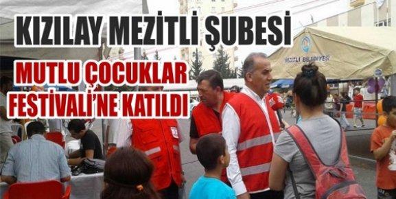 Kızılay Mezitli Şubesi Mutlu Çoçuklar Festivaline Katıldı.