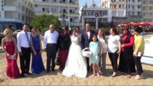Kızkalesi Plajında Düğün