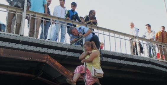 Köprüde İntihar Etmek İstedi