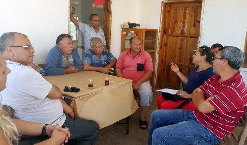 Mersin Büyükşehir Belediyesi Teknik Elemanlarından Çiftçilere Ziyaret
