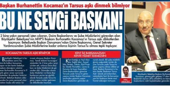 Mersin Büyükşehir Belediyesinde Tarsusçuluk mu Yapılıyor ?