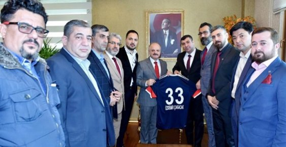 Mersin İdmanyurdu Yönetiminden Vali Çakacak'a Ziyaret