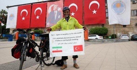 Mersin - İranlı Bisikletçi Akdeniz Turunda