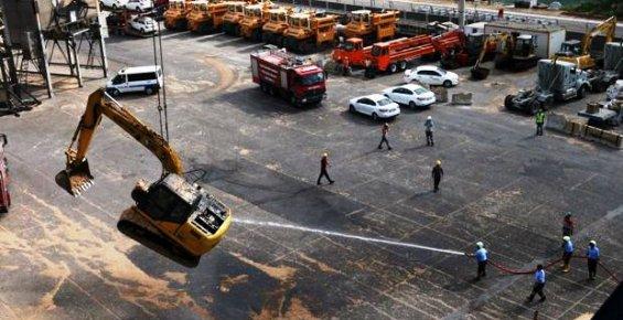 Mersin Limanında Araç Yangını Korku Yarattı