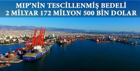 Mersin Limanı'nın Tescillenmiş Bedeli 2 Milyar 172 Milyon 500 bin Dolar