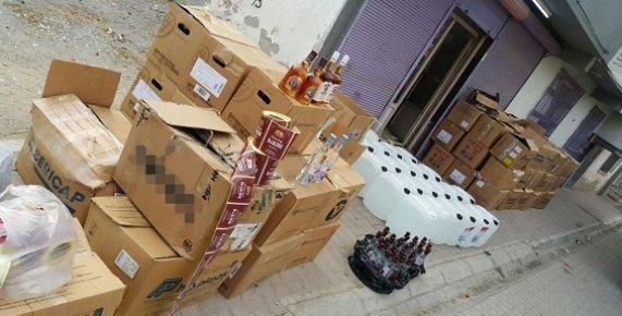 Mersin Polisinden Kaçak İçki ve Sigara Operasyonu