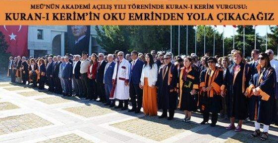 Mersin Üniversitesi de Dine Sarıldı.
