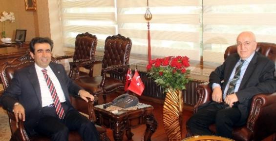 Mersin Valisi Güzeloğlu Genel Müdür Aydoğan'ı Kabul Etti