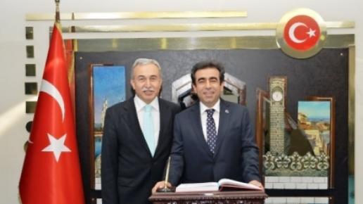 Mersin Valisi Güzeloğlu'ndan Vali Büyük'e Ziyaret