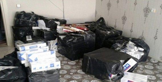 Mersin'de 14 Bin 568 Paket Kaçak Sigara Ele Geçirildi.