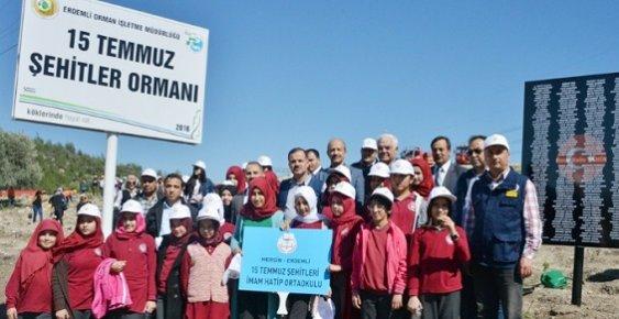 Mersin'de 15 Temmuz Şehitleri Anısına Hatıra Ormanı