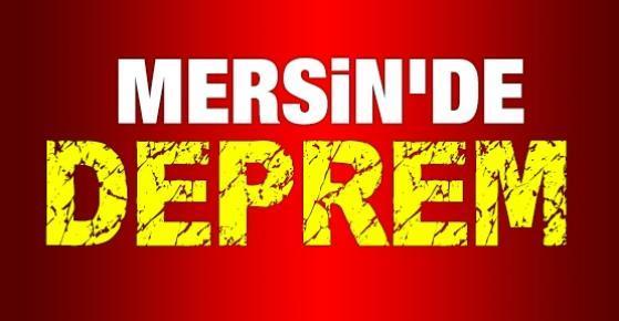 Mersin'de 3,5 Şiddetinde Deprem Yaşandı