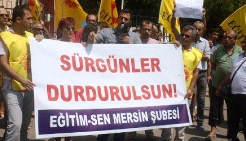 Mersin'de 7 Öğretmen Yerinden Edilmesini Protesto Ettiler