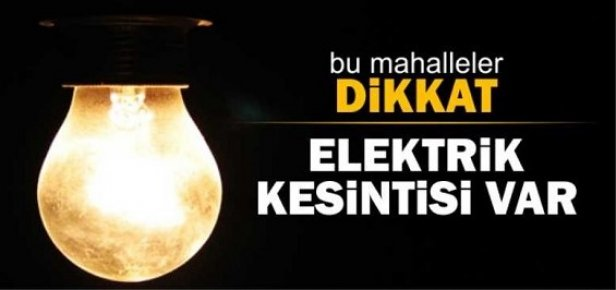 Mersin'de 9 İlçede Büyük Elektirik Kesintisi Uygulanacak