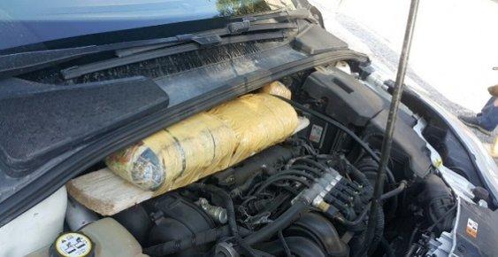 Mersin'de Araç Motorunda Uyuşturucu Kaçakçılığı