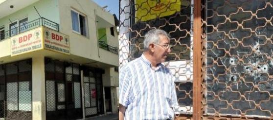 Mersin'de BDP Temsilciliğine Silahlı Saldırı