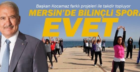 Mersin'de Bilinçli Spor'a Evet Projesi Start Aldı