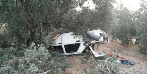 Mersin'de Bir Araç Takla Attı