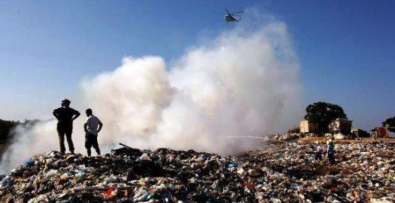 Mersin'de Çöplük Yangını Korku Yarattı