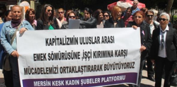 Mersin'de Dev Giyim Markalarına Protesto
