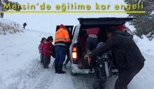 Mersin'de Eğitime Kar Engeli