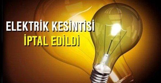 Mersin'de Elektrik Kesintisi İptali