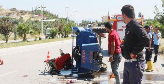 Mersin'de Feci Trafik Kazasında 3 Kişi Yaralandı.