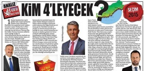Mersin'de Hangi Parti Dördüncü Vekili Çıkaracak ?