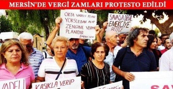 Mersin'de Hükümetin Zamlarına Protesto ve Tepki