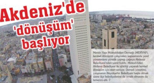Mersin'de Kentsel Dönüşüm Başlıyor