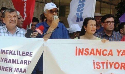 Mersin'de Kesk Üyeleri Bordro Yaktı