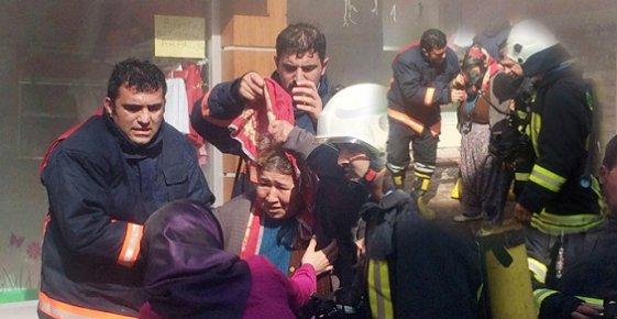 Mersin'de Mağaza Yangını Korkuttu