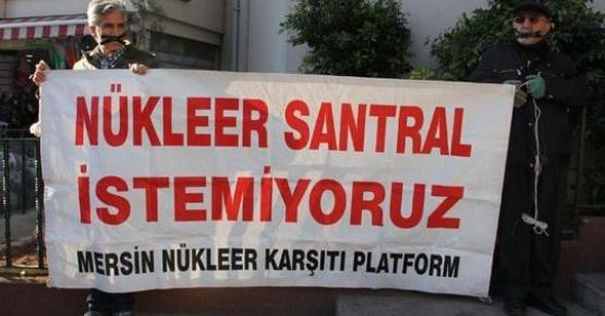 Mersin'de Nükleer Karşıtlarından Eylem