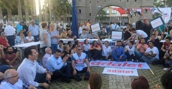 """Mersin'de Özgecan Meydanı'nda """"Adalet Çadırı"""" Kuruldu"""