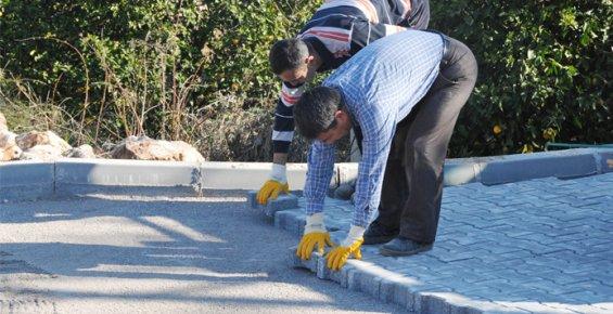 Mersin'de Parke Yol Çalışmaları Devam Ediyor