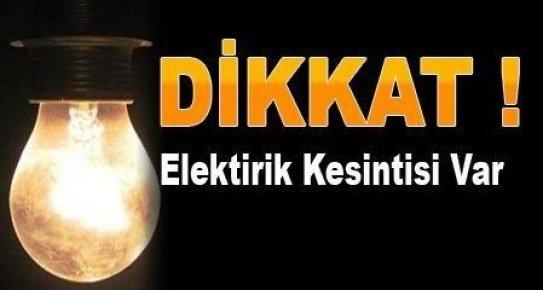 Mersin'de Pazar Günü Elektrikler Kesilecek