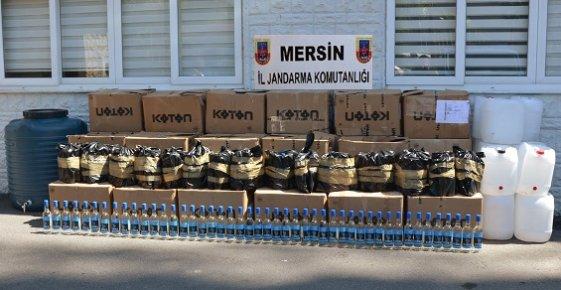 Mersin'de Sahte İçki Operasyonunda Binlerce Şişe İçki Ele Geçirildi.
