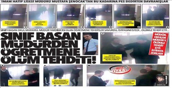 Mersin'de Sınıfı Basan Müdür'den Öğretmene Ölüm Tehditi