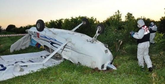 Mersin'de Uçak Düştü
